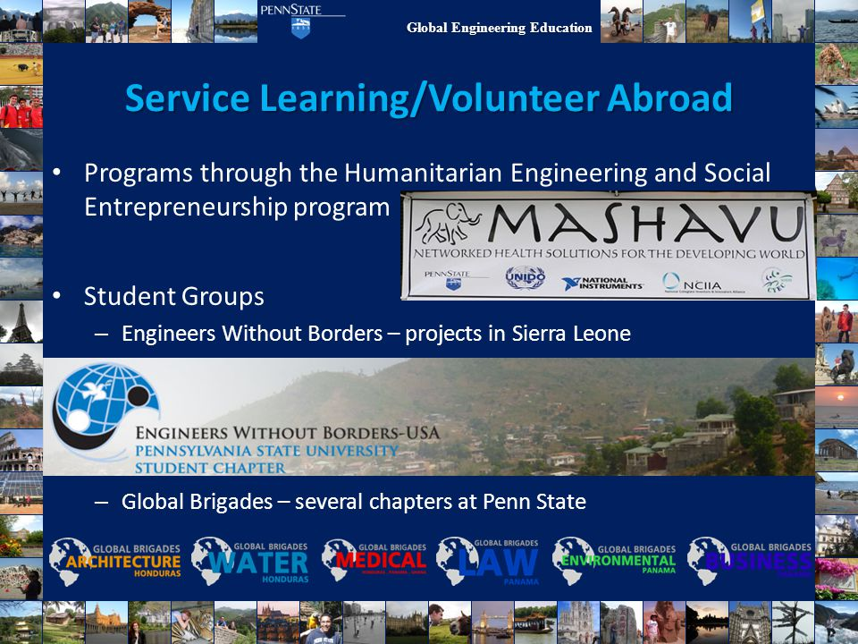 Service Learning/Volunteer Abroad