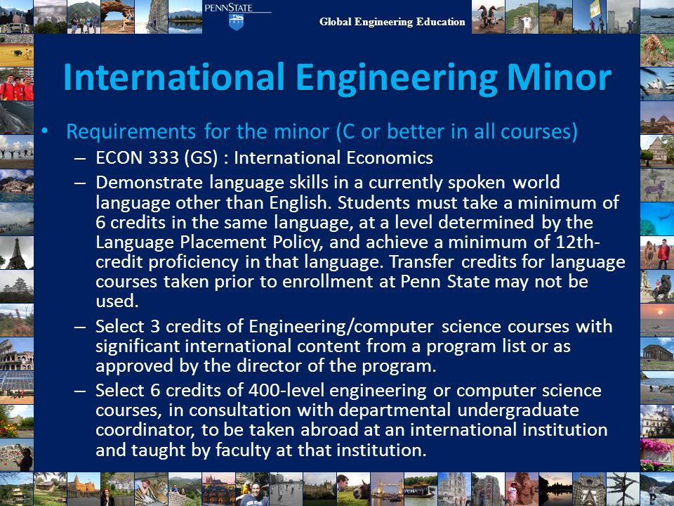 International Engineering Minor