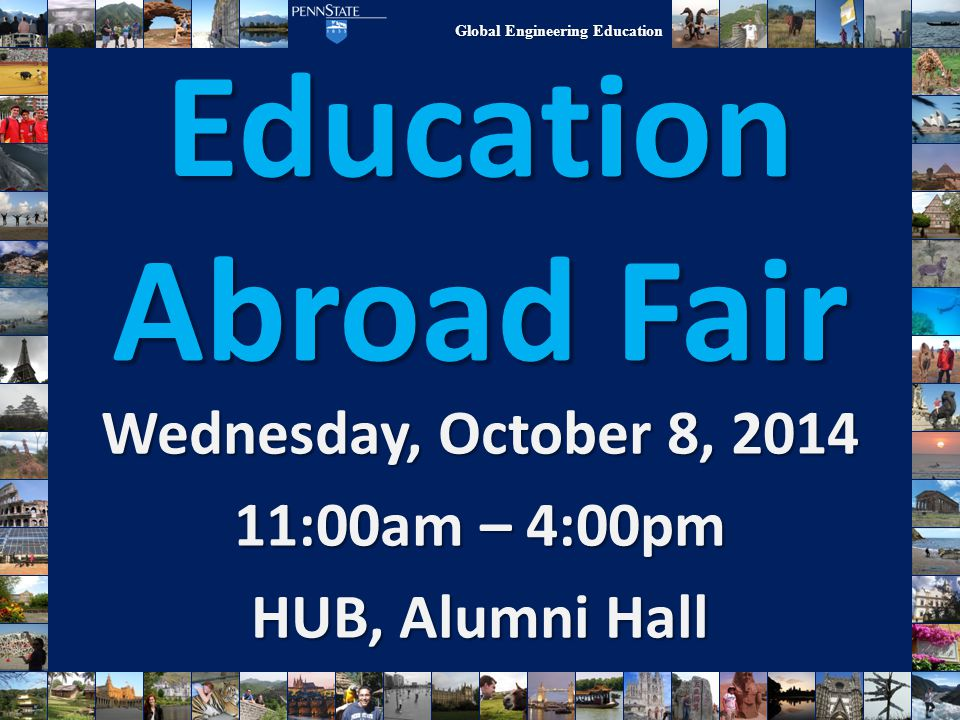 Wednesday, October 8, 2014 11:00am – 4:00pm HUB, Alumni Hall