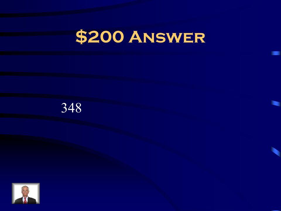 $200 Answer 348