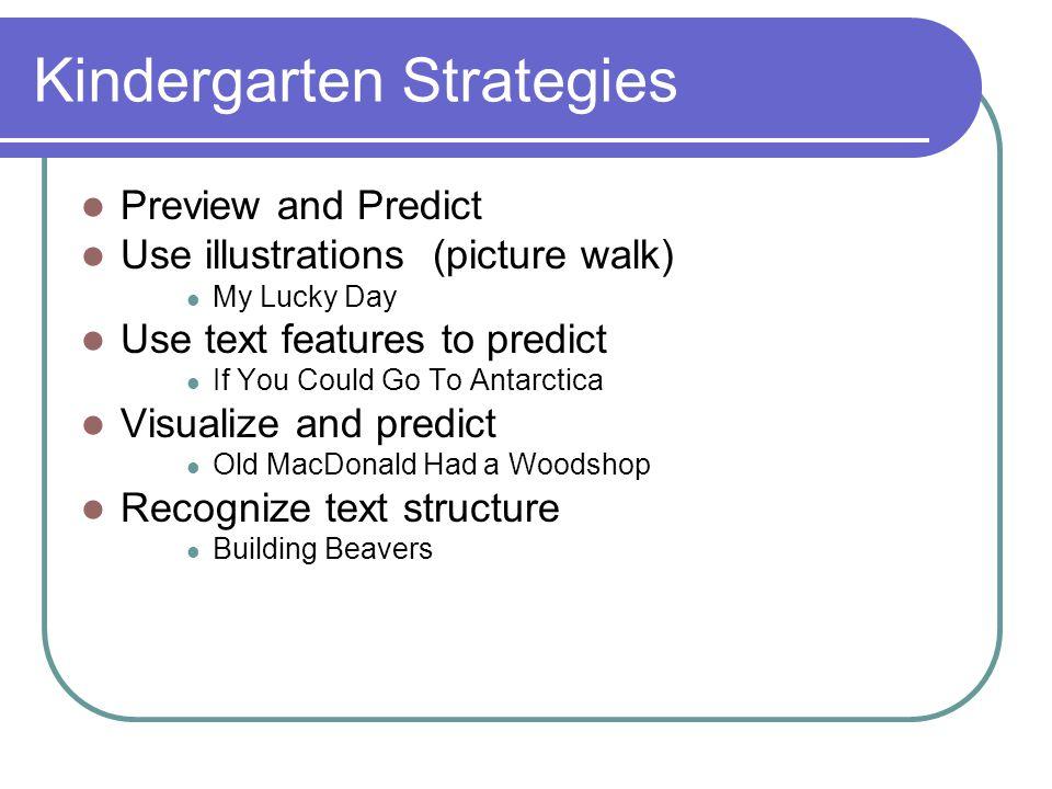 Kindergarten Strategies