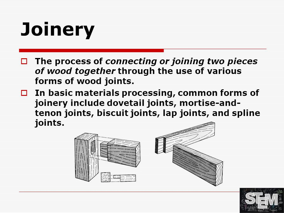 Wood Fasteners, Joinery, & Adhesives