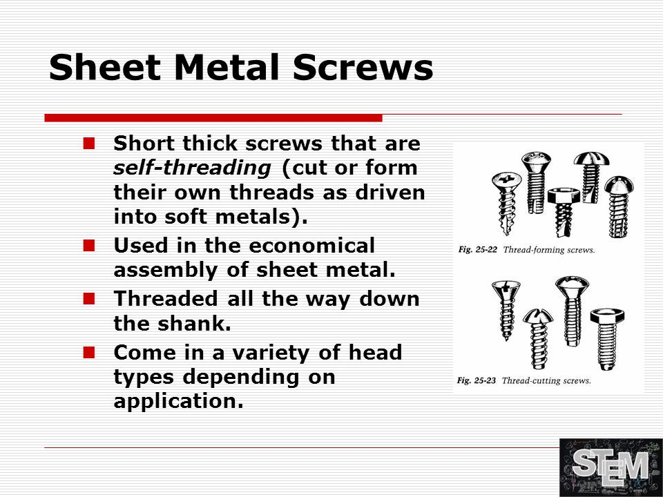 Metal Fasteners, Joining, and Adhesives