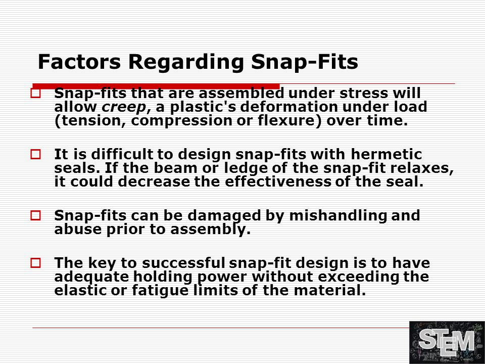 Factors Regarding Snap-Fits