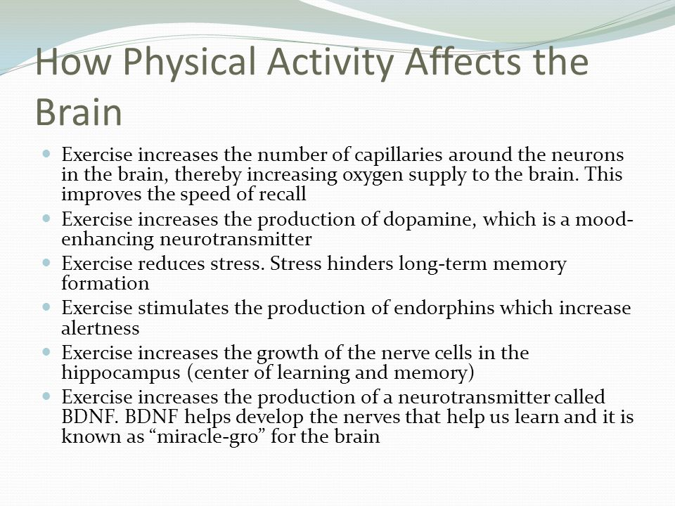 How Physical Activity Affects the Brain