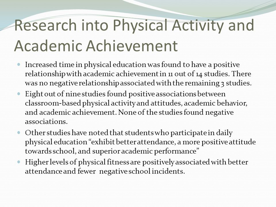 Research into Physical Activity and Academic Achievement