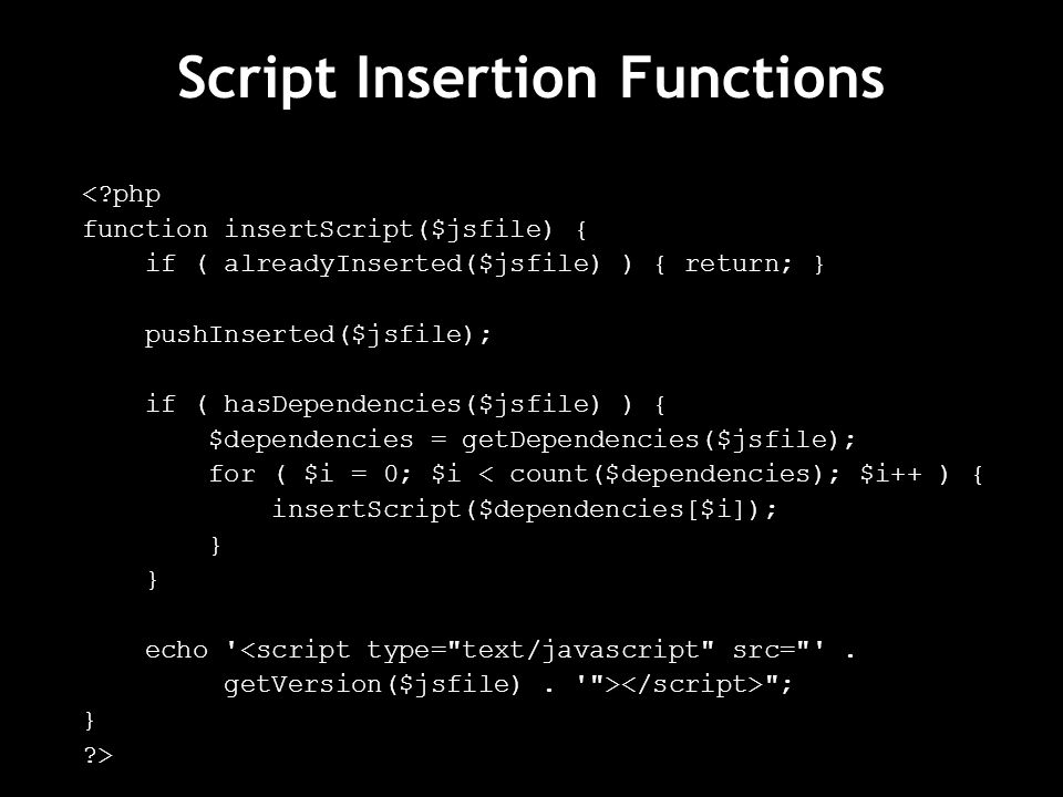 Script Insertion Functions