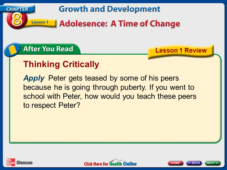 Lesson 1 Review Thinking Critically.