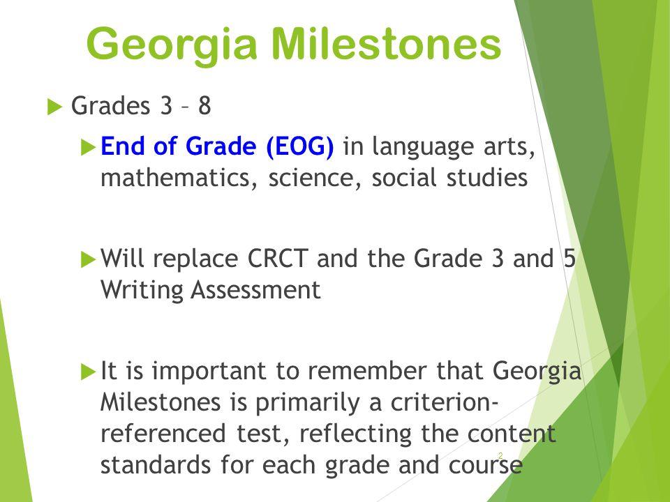 Georgia Milestones Grades 3 – 8