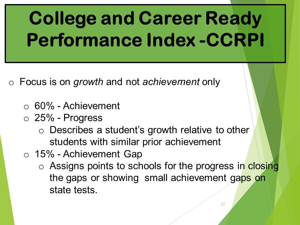 College and Career Ready Performance Index -CCRPI