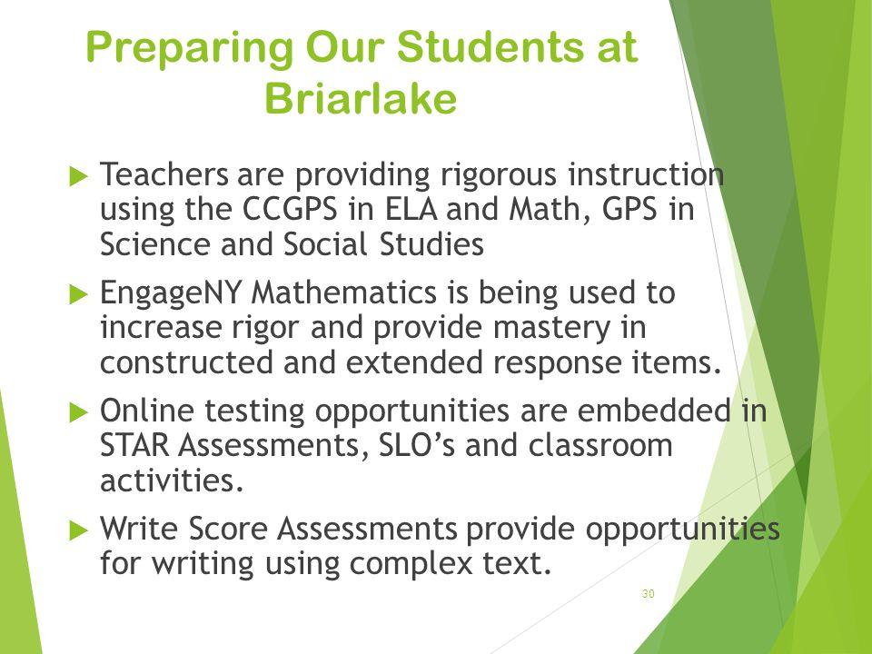 Preparing Our Students at Briarlake