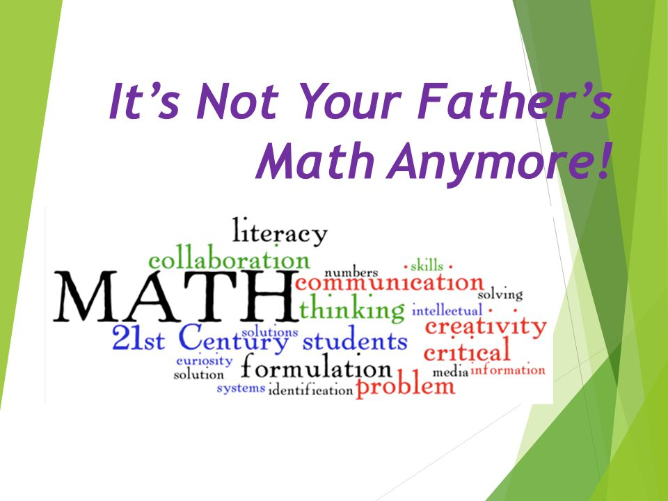 It's Not Your Father's Math Anymore!