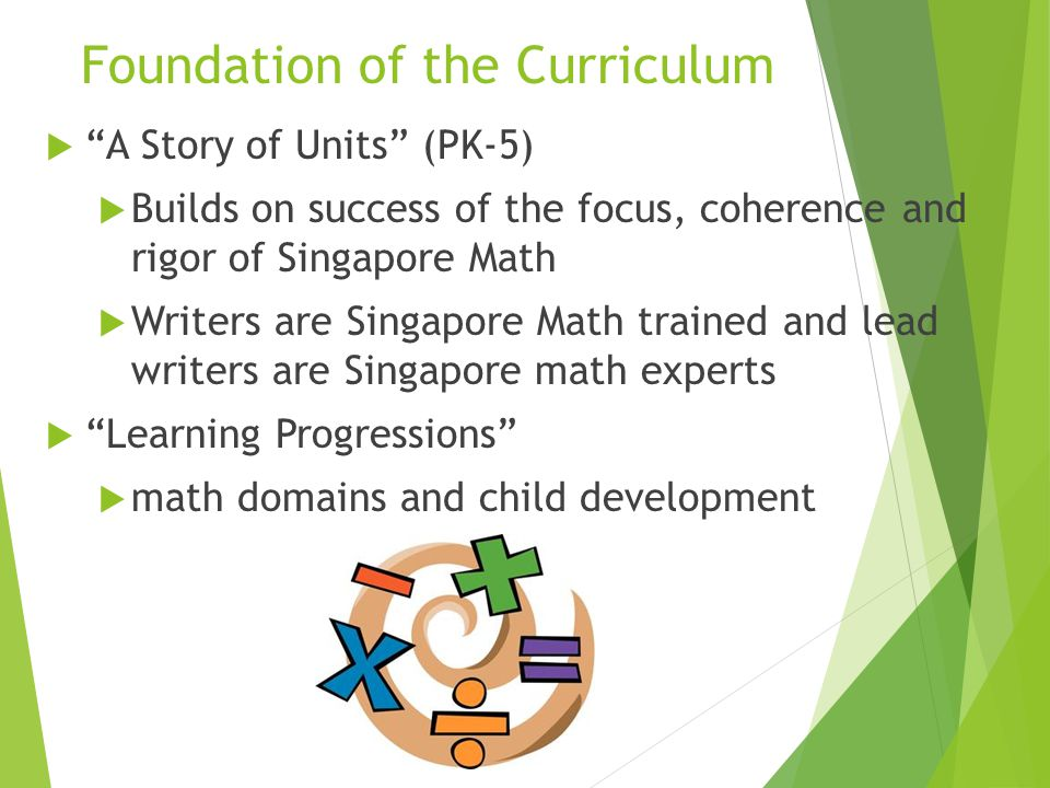 Foundation of the Curriculum