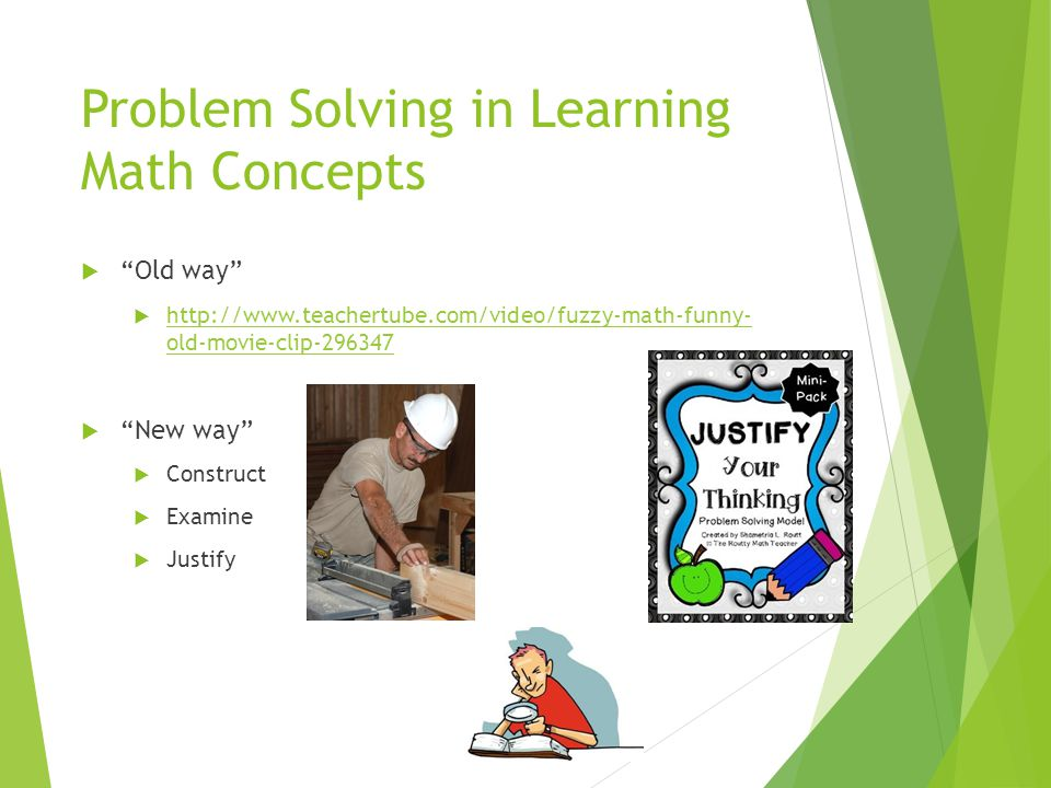 Problem Solving in Learning Math Concepts
