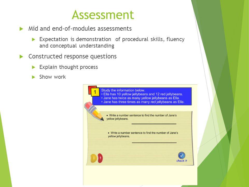 Assessment Mid and end-of-modules assessments