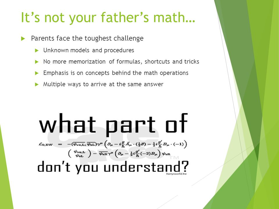It's not your father's math…