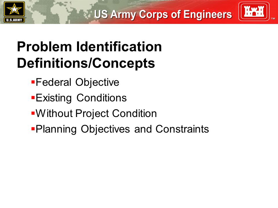 Problem Identification Definitions/Concepts