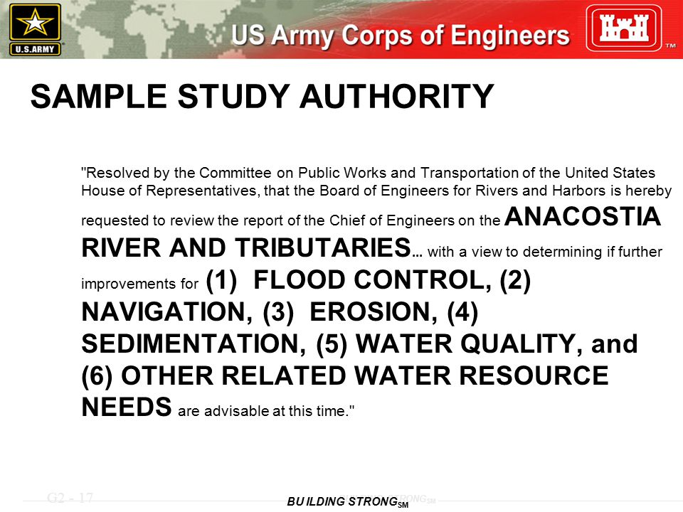 SAMPLE STUDY AUTHORITY