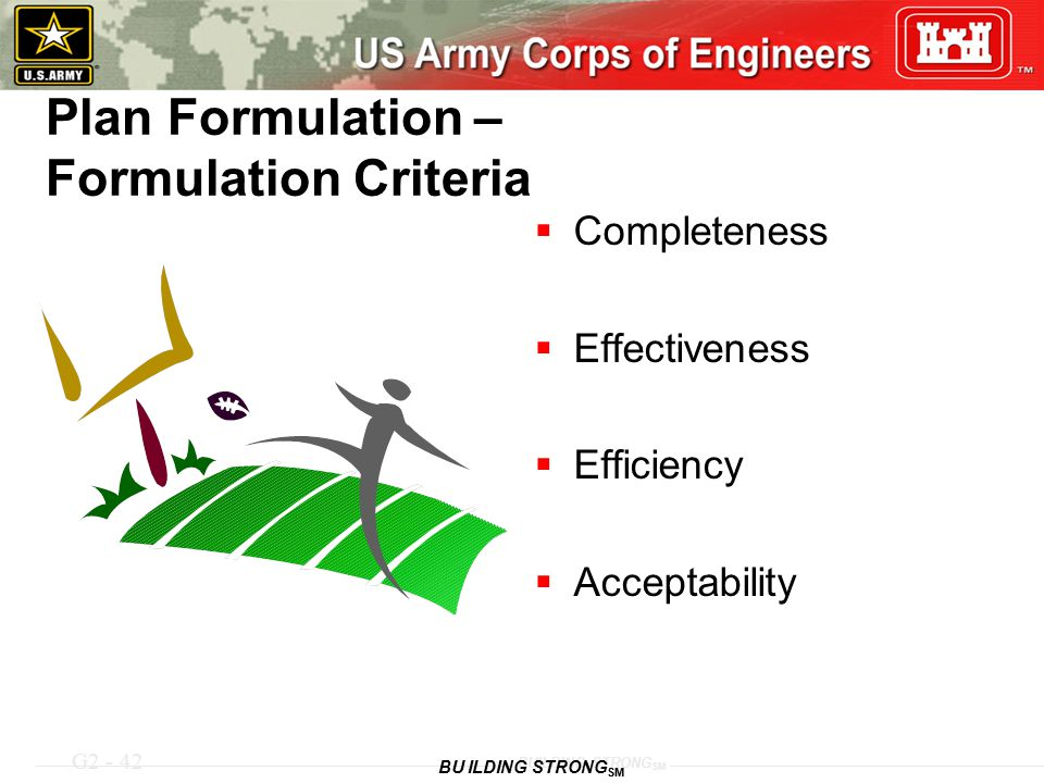 Plan Formulation – Formulation Criteria