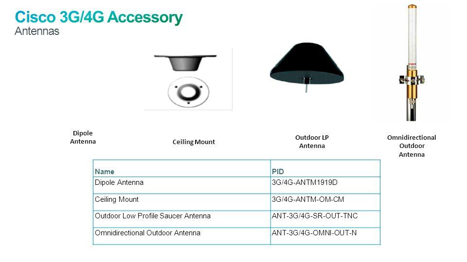 Cisco 3G/4G Accessory Antennas