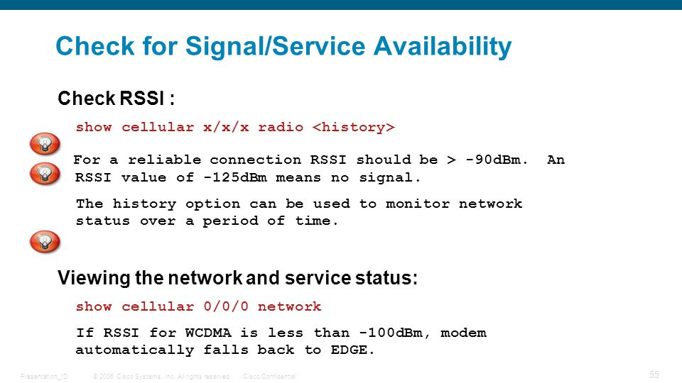 Check for Signal/Service Availability