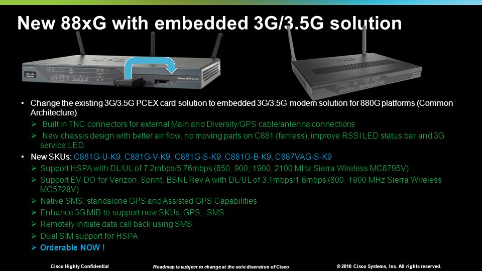 New 88xG with embedded 3G/3.5G solution