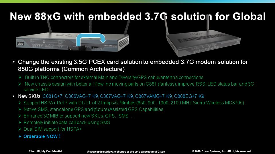 New 88xG with embedded 3.7G solution for Global