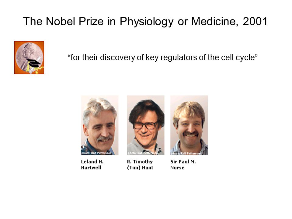 The Nobel Prize in Physiology or Medicine, 2001