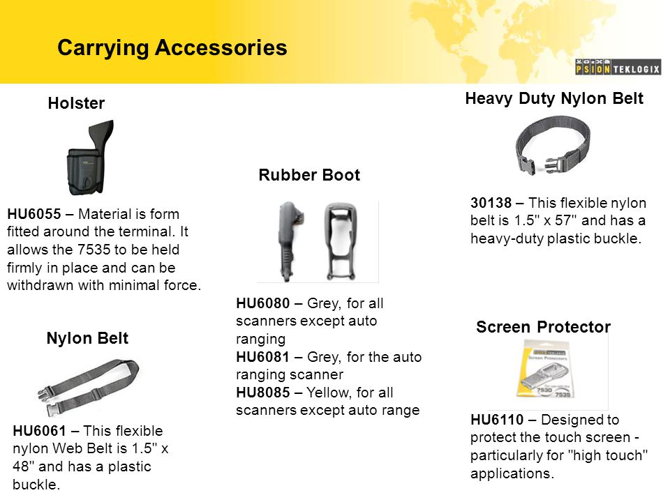 Carrying Accessories Heavy Duty Nylon Belt Holster Rubber Boot