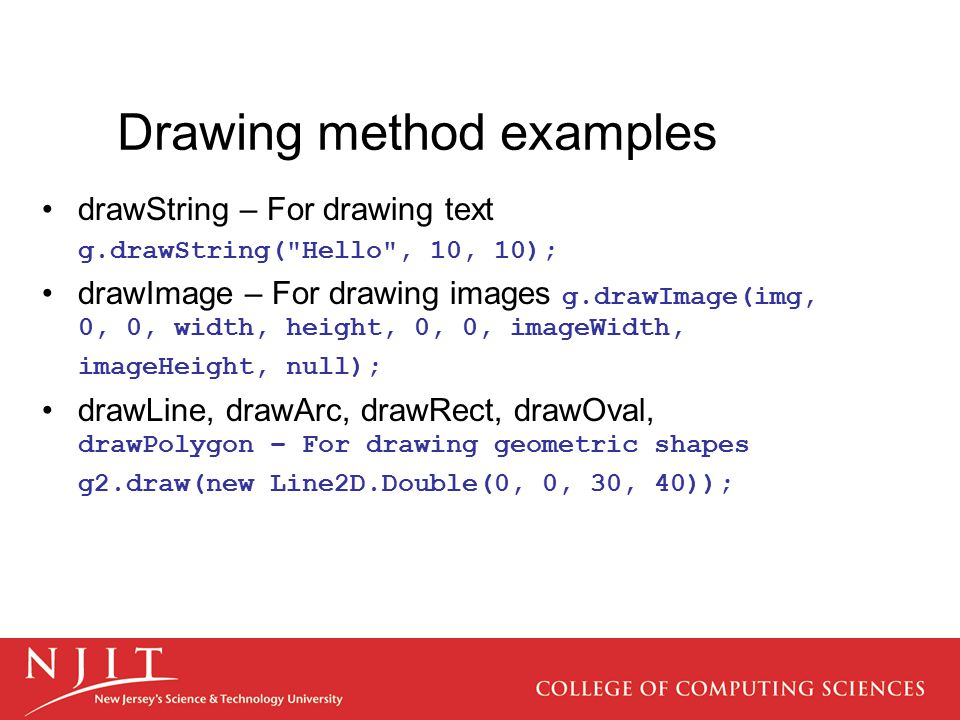 Drawing method examples