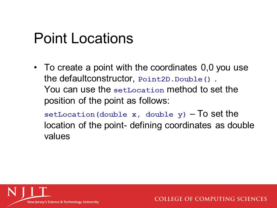 Point Locations
