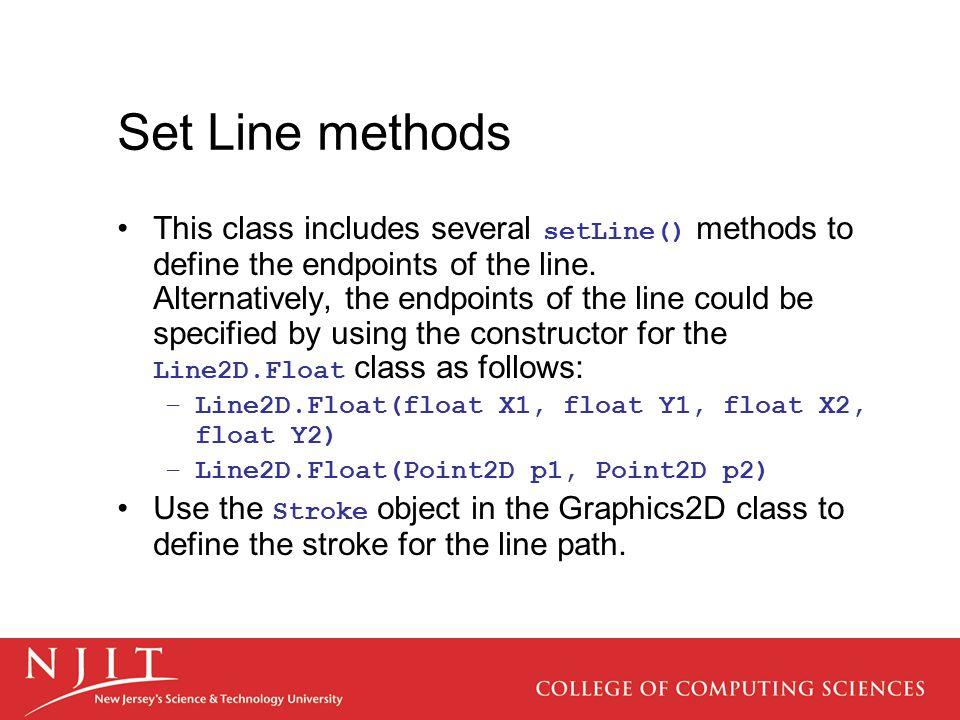 Set Line methods