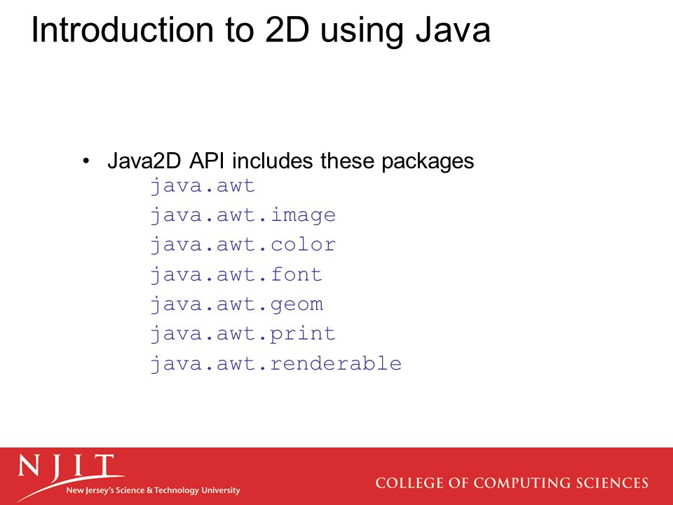 Introduction to 2D using Java