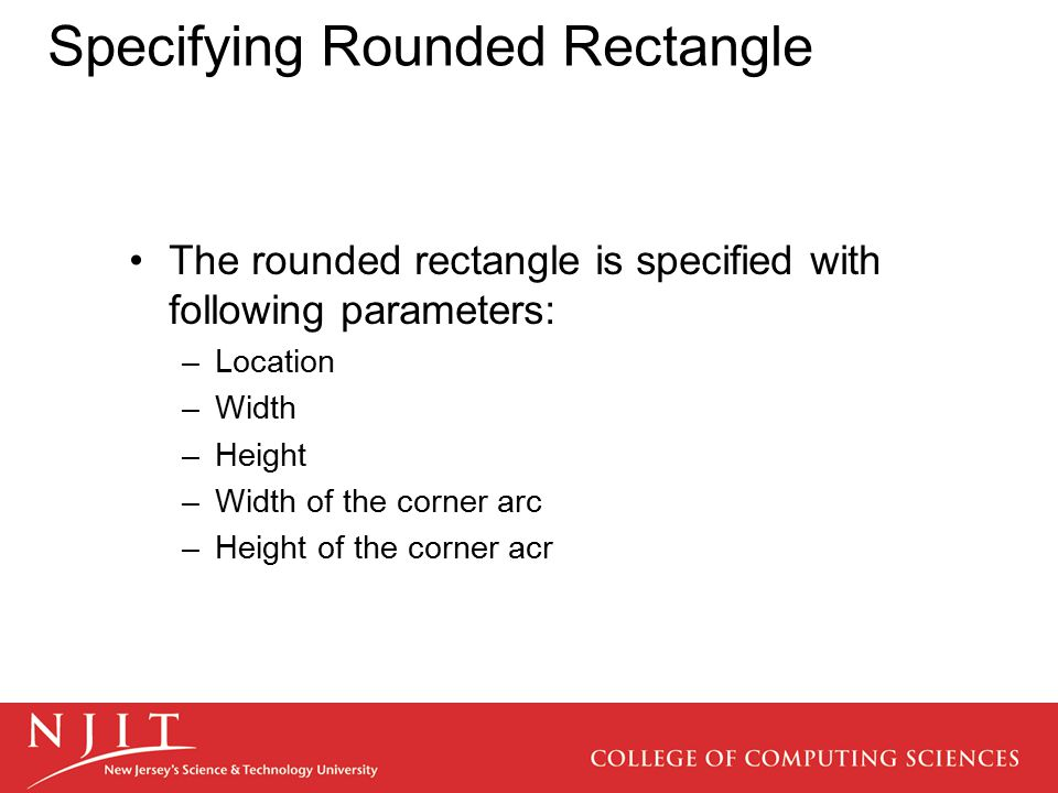 Specifying Rounded Rectangle