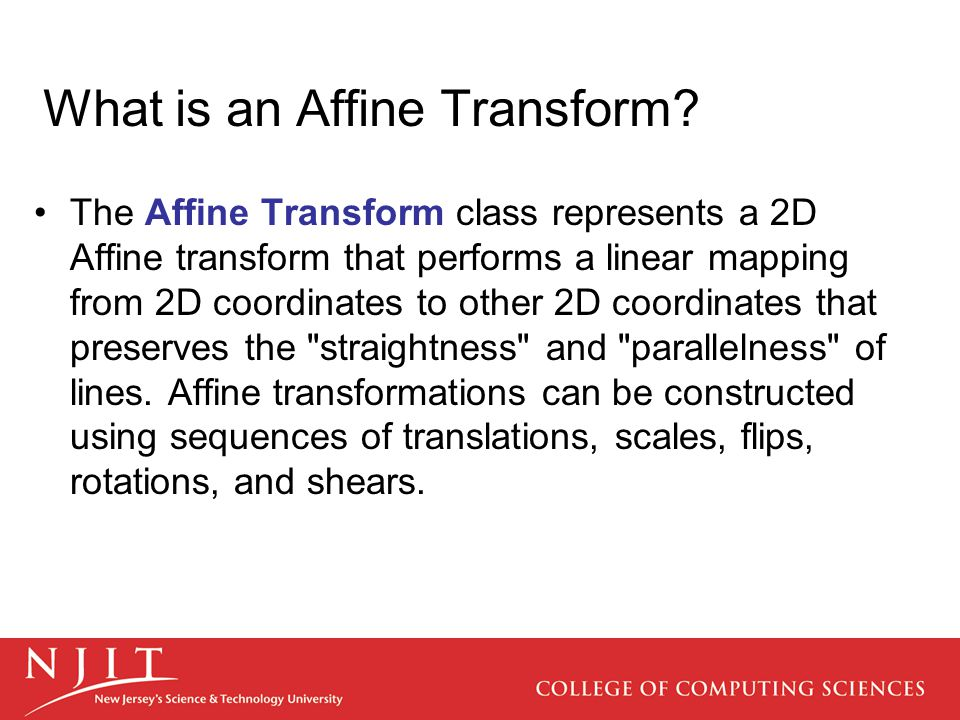 What is an Affine Transform
