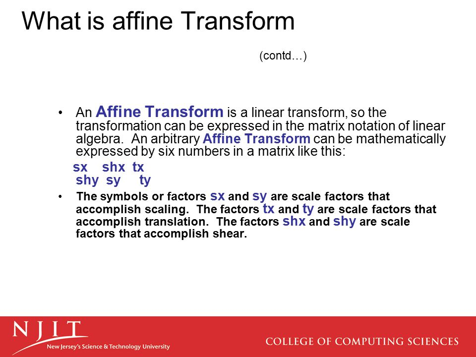 What is affine Transform (contd…)