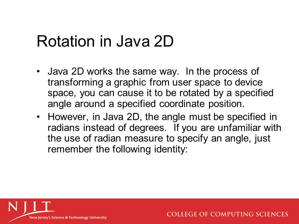 Rotation in Java 2D