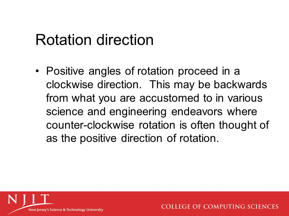 Rotation direction