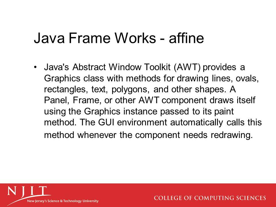 Java Frame Works - affine