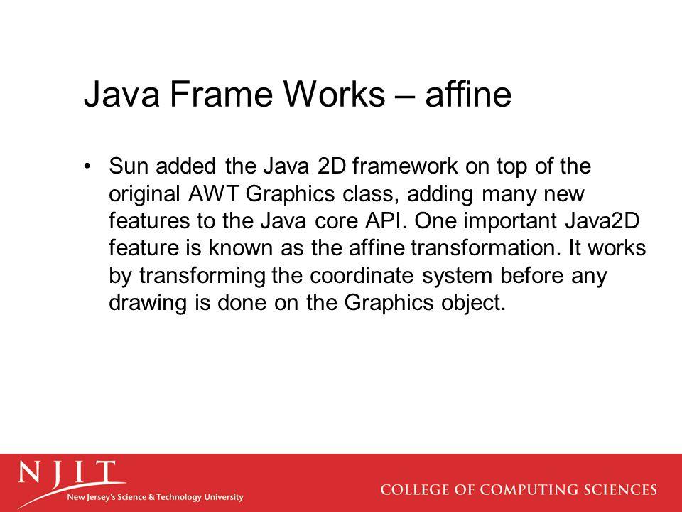 Java Frame Works – affine