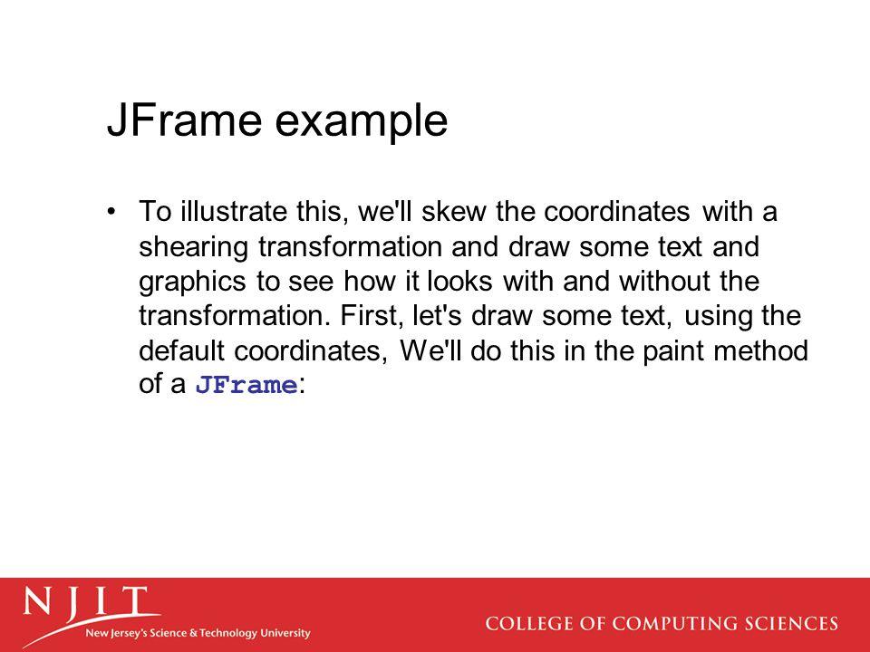 JFrame example