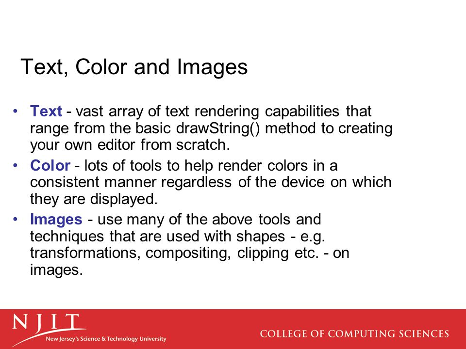 Text, Color and Images