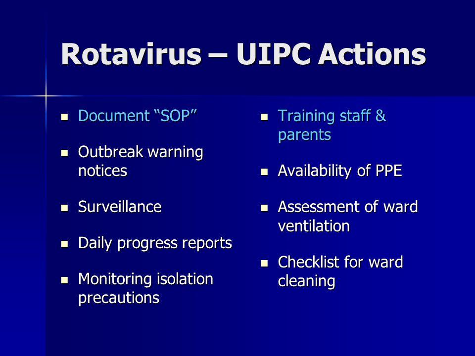 Rotavirus – UIPC Actions