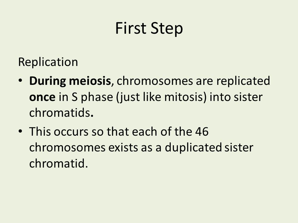 First Step Replication