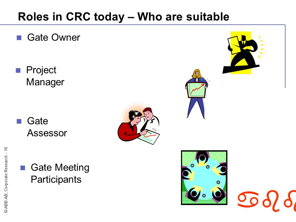 Roles in CRC today – Who are suitable