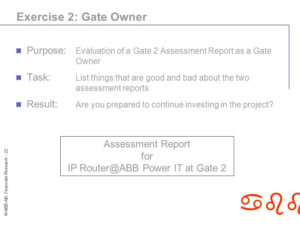 IP Router@ABB Power IT at Gate 2