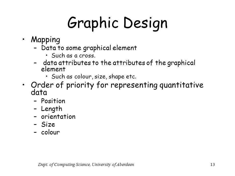 Dept. of Computing Science, University of Aberdeen