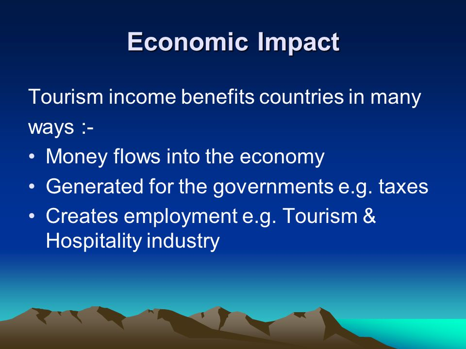 economic impact of tourism literature review Tourism economics research: a review and assessment annals of tourism surveys the literature over a period of modelling for economic impact.
