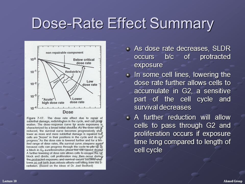 Dose-Rate Effect Summary