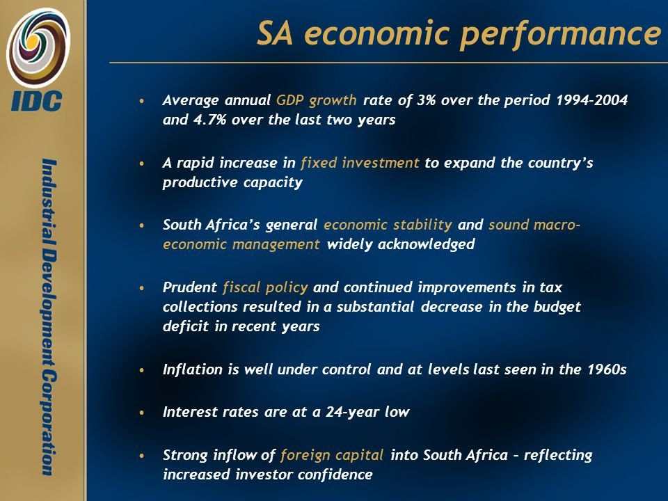 SA economic performance